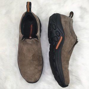 Merrell 10 Light Brown Slip On Walking Clog Shoe